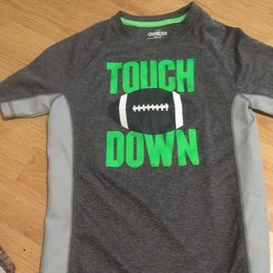 Boys 7x activewear Touchdown shirt